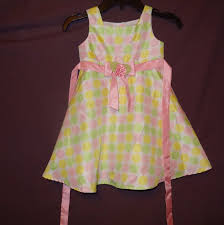 Dress Easter Polka Dots Pink Green Yellow And Similar Items