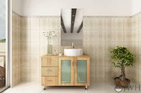 natural wood single bath vanity