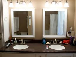 modern wood picture frames. Double Bathroom Mirrors With White Painted Oak Wood Frame Modern Picture Frames