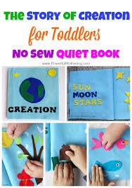 tell the story of creation in this no sew quiet book for toddlers many interactive pages that are themed to the days of creation