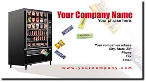 Vending Machine For Business Fascinating Vending Machine Route Business Cards