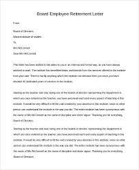 retirment letter sample retirement letter 10 examples in pdf word