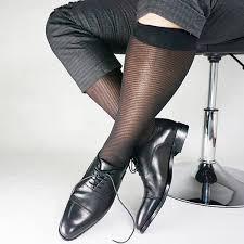 2019 Twill Striped Mesh Nylon <b>Silk Socks</b> For Men Business Soft ...