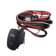 tuff led wiring harness led light bar on off rocker switch relay wiring harness loom kit