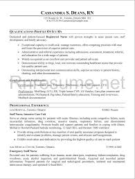 Sample Resume For A Registered Nurse Free Resume Example And