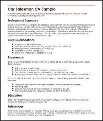 Car Salesman Resume Magnificent Car Salesman CV Sample MyperfectCV