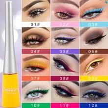 Цветной <b>гелевый карандаш для глаз</b>, Жидкий Макияж, CmaaDu ...