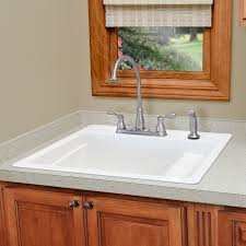 mustee laundry sink. Beautiful Sink EL MUSTEE U0026 SONS Vector 25 Single Basin Drop In Utility Sink Biscuit  25BT On Mustee Laundry F
