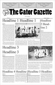 Newspaper First Page Template Best Photos Of Newspaper Cover Page Template Blank Newspaper Front