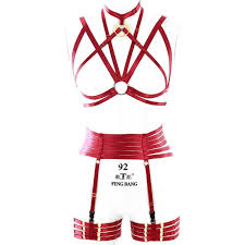 <b>Women</b> Strappy <b>Harness Bra</b> Sexy Body Bondage Belt Set ...
