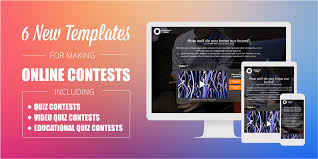 Online Quiz Templates 100 New Online Contest Templates Preview and Customize now 77