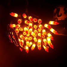 Halloween Candy Corn String Lights 100 Light Candy Corn Mini String Lights Set Outdoor Halloween Haunted House Prop