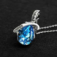 crystal water drop necklace water drop pendant necklace