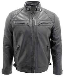 Men's Retro Black 100% Leather Racing Quilted Biker Jacket | eBay & Image is loading Men-039-s-Retro-Black-100-Leather-Racing- Adamdwight.com
