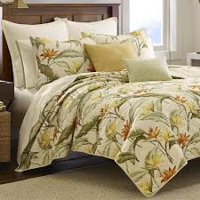 Tommy Bahama Birds of Paradise Tropical Quilt Bedding & Birds of Paradise Quilt Light Cream Adamdwight.com