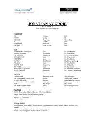 Free Actor Resume Template And How To Write Yours Properly An