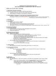 Week 2 Eng Lp Lesson Plan Curriculum