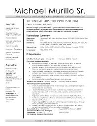 Interesting Tech Support Resume Peachy It Technical Resume Cv
