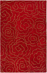 astounding design of the red area rug with gold fl motives ideas as well as the