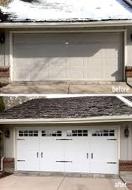 garage door upgrade to a low maintenance steel carriage house style this is next on our to do list
