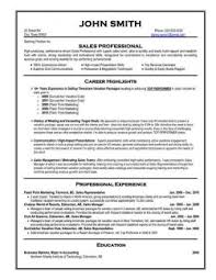 ... Professional Resume Template Sales ...