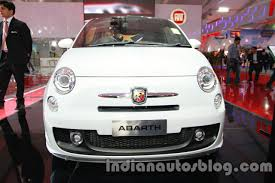 new car launches at auto expo 2014Auto Expo 2014  Fiat 500 Abarth introduced in India