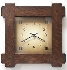 arts and crafts wall clocks by ejv