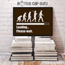 Printable Art Loading Please Wait Funny Evolution Of Man Chart Inspirational Wall Poster Funny Digital Print Instant Download