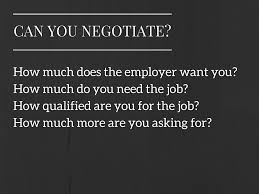 why my attempt at salary negotiation failed can you negotiate salary