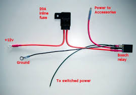 wiring a relay for accessories the schematic above shows the simplest way to wire the relay and the photo shows an actual example here s some step by step instructions for doing the job