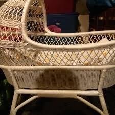 Best Antique Wicker Baby Bassinet for sale in Vaudreuil, Quebec for 2018