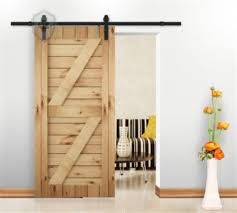 kirin dbu new clic 9ft barn door hardware black sliding track for single wood door 7 9 day free fast shipping awesome s selected by anna