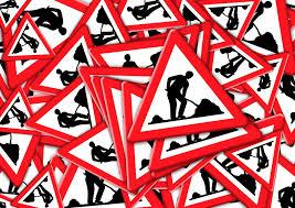 Bildergebnis für Verkehrszeichen, Baustelle, Achtung