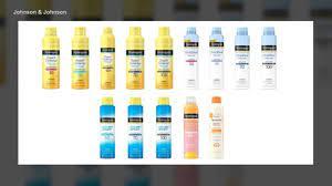 Some Aveeno, Neutrogena sunscreens ...