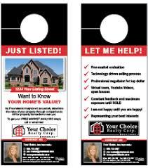 real estate door hanger templates. Your Choice Realty Door Hanger Template Real Estate Templates