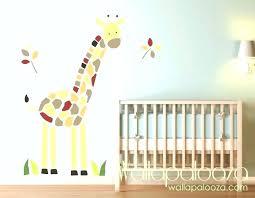baby room wall stickers giraffe decal nursery art zoom decals jungle australia scenic tree
