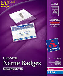 Avery Nametag Avery Clip Style Name Badges Top Loading 74461