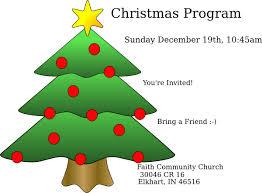 Christmas Program Templates Christmas Tree Christmas Ornament Clip Art Christmas Day