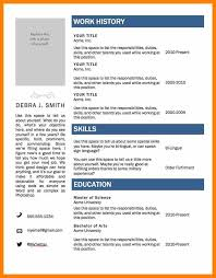 Resume Example Resume Templates For Microsoft Word 2010 Resume