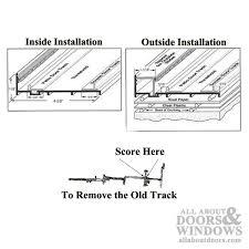 sliding glass door track sliding