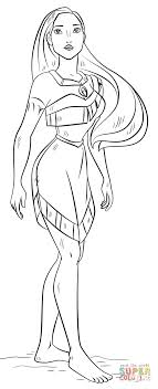 pocahontas coloring pages printable for kids cool2bkids
