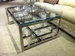 glass chrome coffee table glass