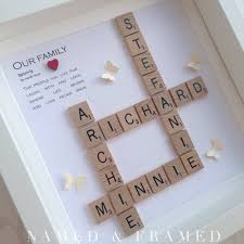 personalised family scrabble wall art