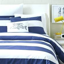 blue and white striped quilt yellow rugby stripe duvet cover navy bedding pattern