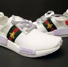 gucci x adidas. adidas nmd r1 prime knit x gucci bee white