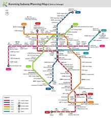 Phoenix Light Rail Map 2019 Kunming Subway Map Planning Metro Lines Sketch Map