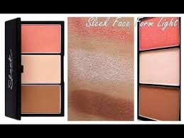 sleek face form light palette review