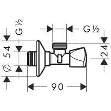 <b>Hansgrohe</b> Вентиль <b>угловой</b> 13903000 | Афоня.рф, цена 1 230 руб.