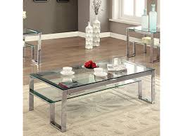 nikita chrome coffee table