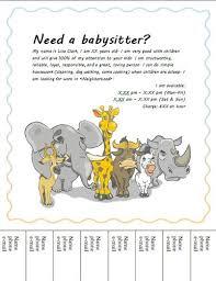 Babysitting Templates Flyers Babysitting Flyer With Animals Babysitting Flyers